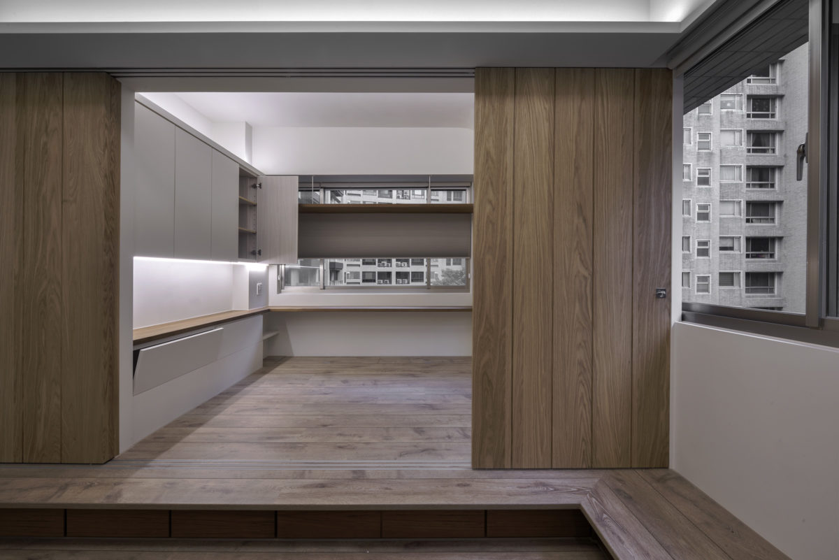 主臥鋪區,秘密漫畫櫃,床邊櫃,拉門可移