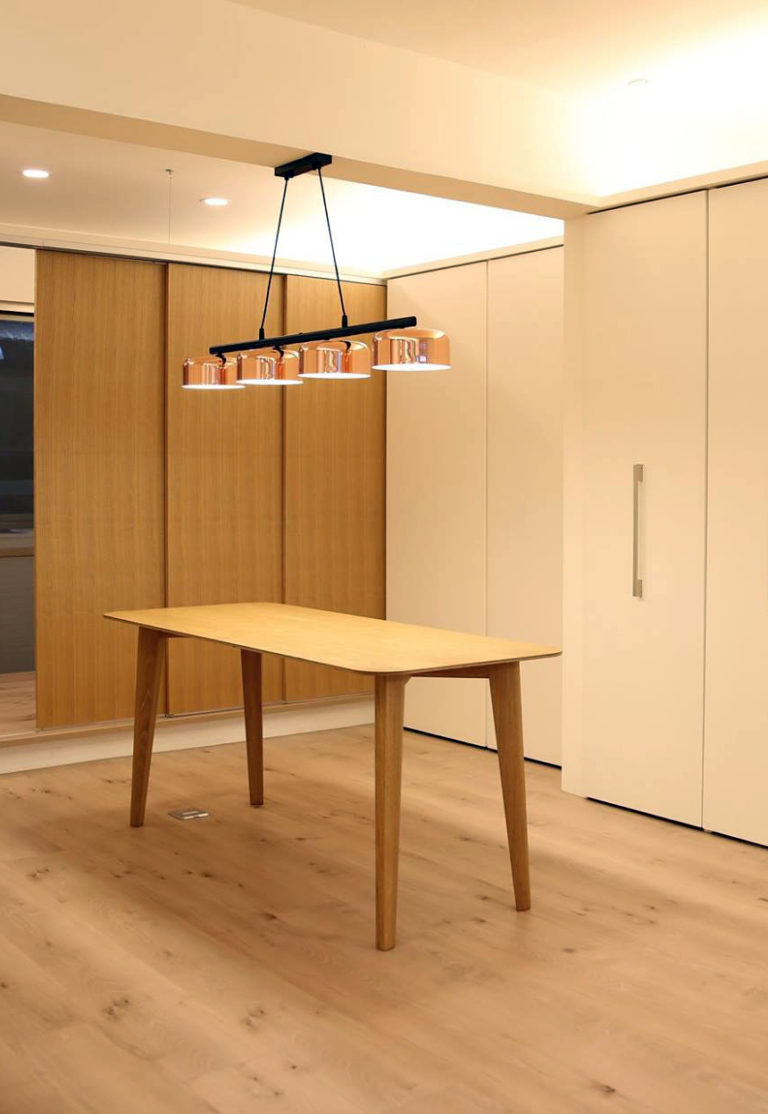 元桌, 楓木夾板