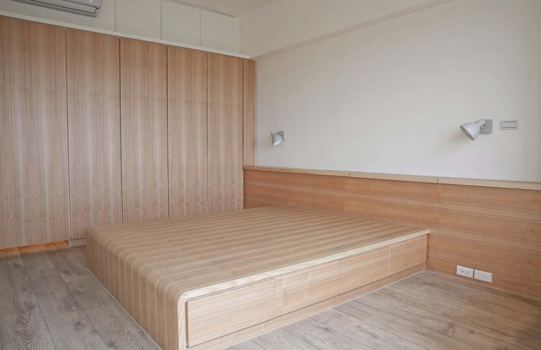 簡單的臥房,收納大有奧祕